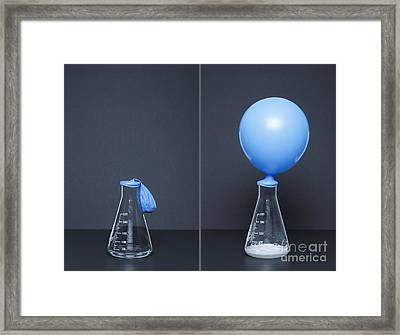 Lithium Carbonate Reacts With Citric Framed Print