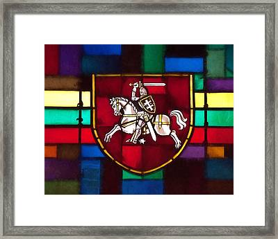 Lithuania Coat Of Arms Framed Print