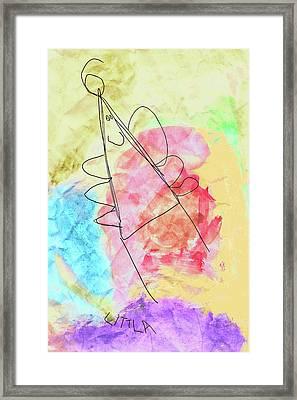 Littla - The Little Angel Framed Print