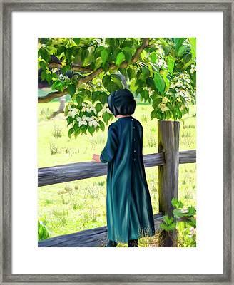 Little Amish Girl Framed Print