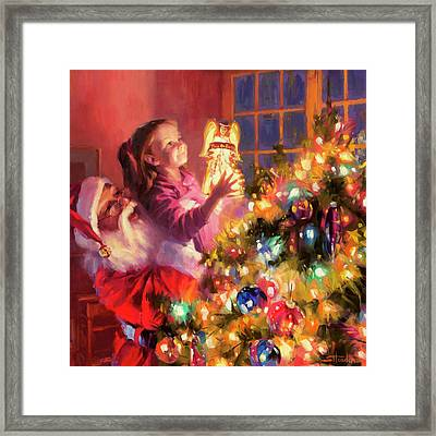 Framed Print featuring the painting Little Angel Bright by Steve Henderson