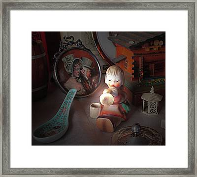 Little Angel Brings Good Cheer Framed Print