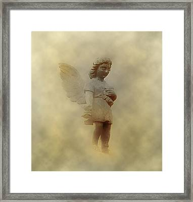 Little Angel In The Clouds Framed Print by Bill Cannon