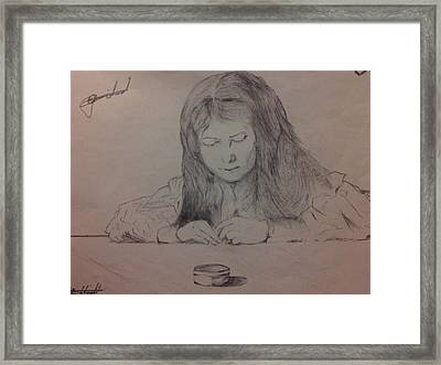 Little Angel In Thoughts Framed Print by Mmushi Given Ditodi