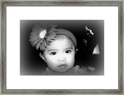 Little Angel Framed Print by Kiwi Lee