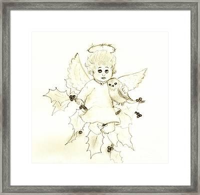 Little Angel Framed Print by Sonya Chalmers