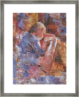 Little Artist Framed Print by Kenneth Young