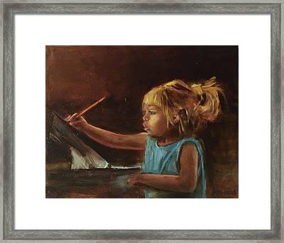 Little Artist Framed Print