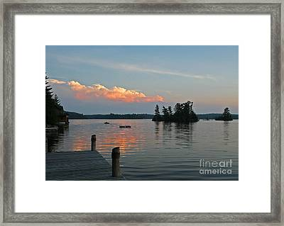 Little Bald Lake Framed Print by Barbara McMahon