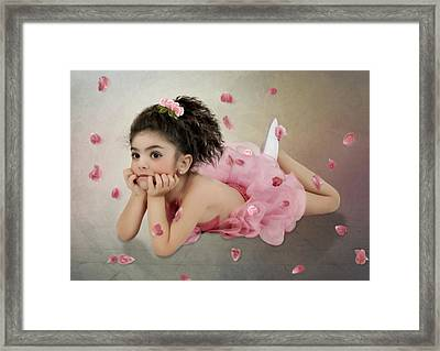 Little Ballerina In Pink Framed Print