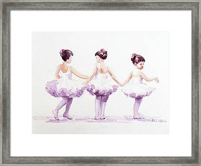 Little Ballerinas-3 Framed Print