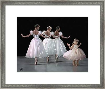 Little Ballerina's Dream Framed Print