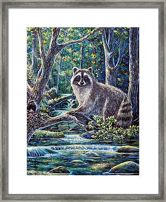 Little Bandit Framed Print