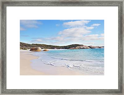 Framed Print featuring the photograph Little Beach, Australia by Ivy Ho