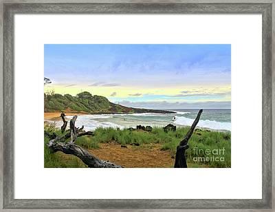 Framed Print featuring the photograph Little Beach by DJ Florek