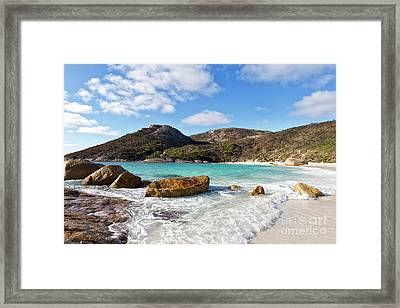 Framed Print featuring the photograph Little Beach Two Peoples Bay Nature Reserve by Ivy Ho