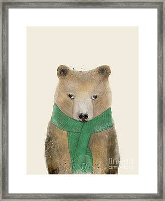 Framed Print featuring the painting Little Bear Brown by Bri B