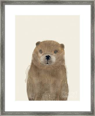 Framed Print featuring the painting Little Beaver by Bri B