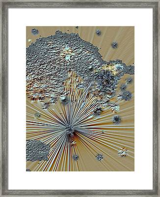 Framed Print featuring the digital art little Big Bang by Sherri  Of Palm Springs