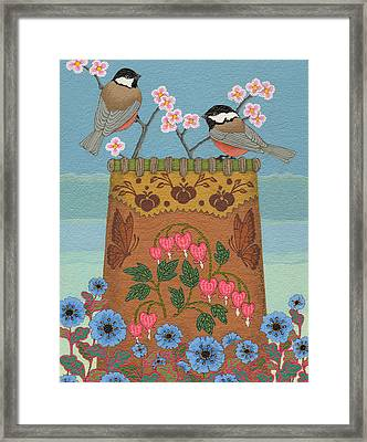 Framed Print featuring the painting Little Bird by Chholing Taha