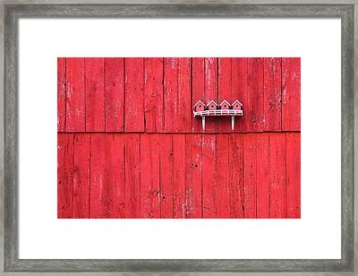 Little Bird Houses Framed Print