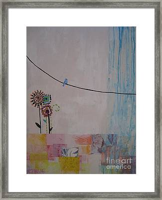 Framed Print featuring the painting Little Birdie by Ashley Price