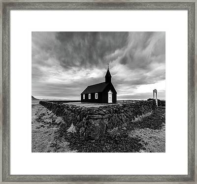 Little Black Church 2 Framed Print by Larry Marshall