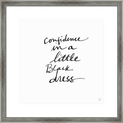 Little Black Dress - Art By Linda Woods Framed Print