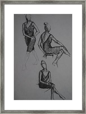 Little Black Dress X Three Framed Print by Chris  Riley