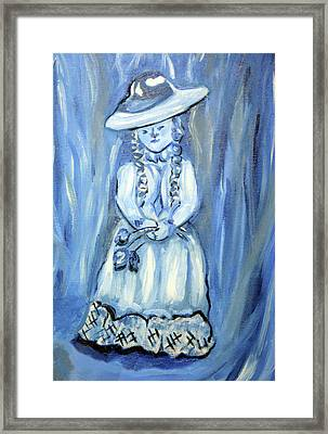 Little Blue Girl Framed Print by Lisa Stanley