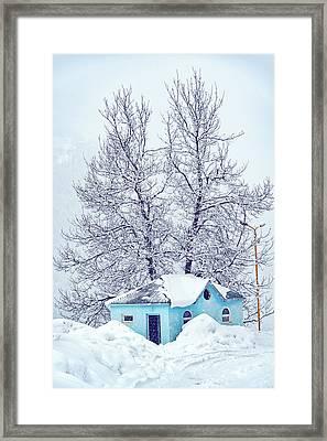 Little Blue House Framed Print