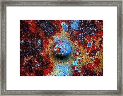 Little Blue Planet Framed Print by Susan Moore