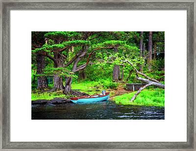 Little Blue Rowboat Framed Print
