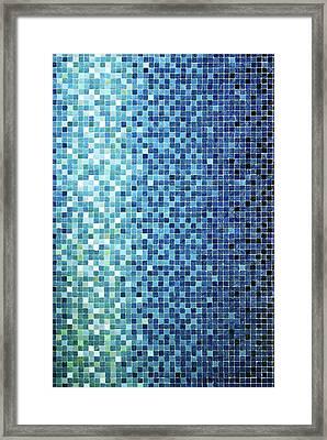 Little Blue Tiles Framed Print