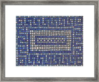 Little Blue Tiles Framed Print by Tracy Fetter
