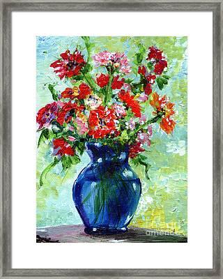Little Blue Vase Framed Print
