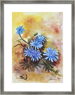 Little Blues Framed Print by Jana Goode