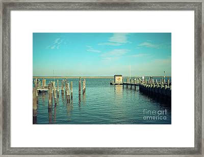 Little Boat House On The River Framed Print by Colleen Kammerer