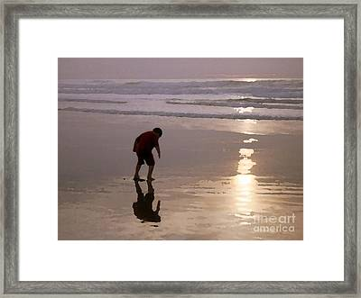 Little Boy At Play Framed Print