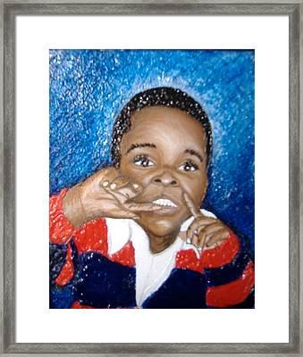 Little Boy Blue  Framed Print by Keenya  Woods