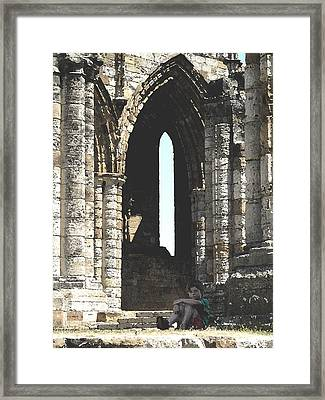 Little Boy Under The Arch Framed Print