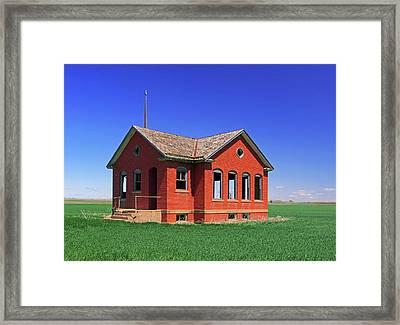 Little Brick School House Framed Print by Christopher McKenzie