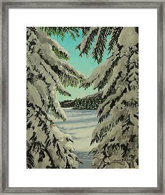 Little Brook Cove Framed Print