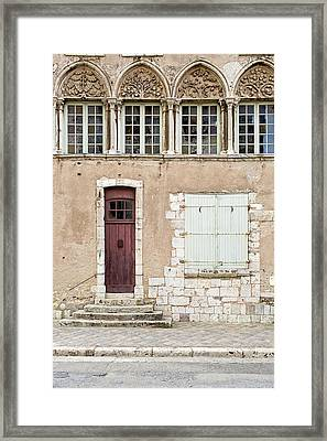 Framed Print featuring the photograph Little Brown Door by Melanie Alexandra Price