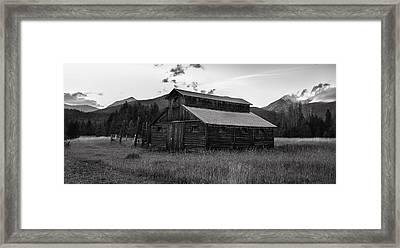 Little Buckaroo Homestead Framed Print by Thomas Schoeller