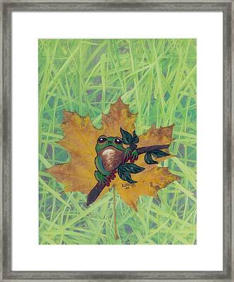 Little Buddy Frog Framed Print by Ralph Root