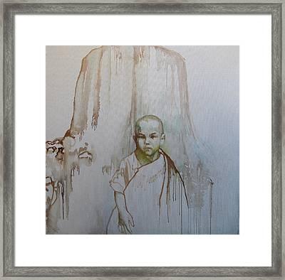 Little Budha Framed Print by Tanya Ilyakhova
