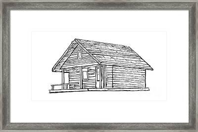 Little Cabin In The Woods Framed Print by Edward Fielding