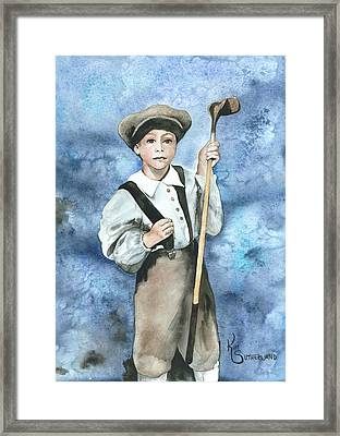 Little Caddy Framed Print by Kim Whitton