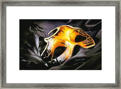 Little Carnival Mask - Da Framed Print by Leonardo Digenio